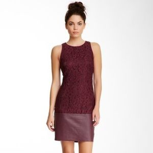 Trina Turk Anya's Lace Leather Sleeveless Dress 6